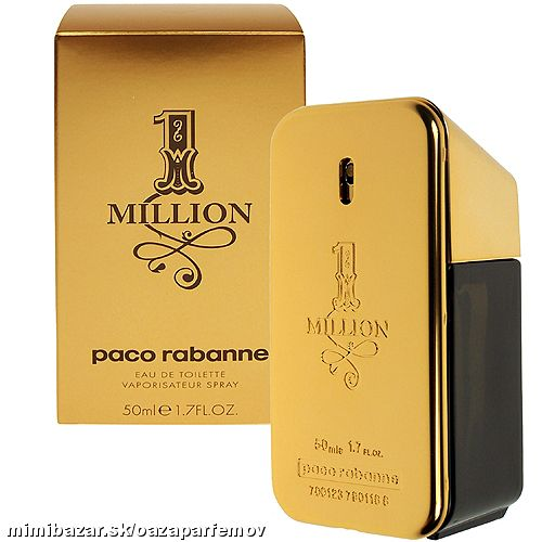 PACO RABANNE- 1 MILLION EDT 50ML  SKLADOM !