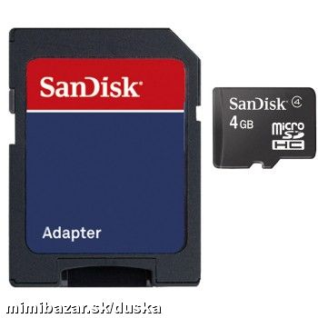 SanDisk microSDHC Card Photo 2 - 4GB + Adapter