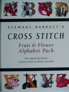 CROSS STICH FRUIT&FLOWER ALPHABET PACK