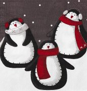 SERVÍTKY CHRISTMAS PENGUINS